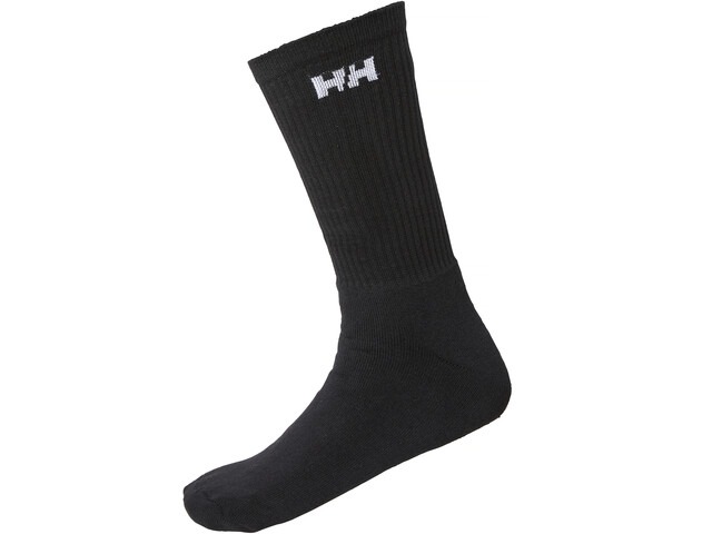Helly Hansen Cotton Socks 3-Pack, black